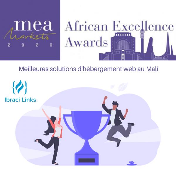 Ibraci Links reçoit le prix des meilleures solutions d'hébergement web au Mali